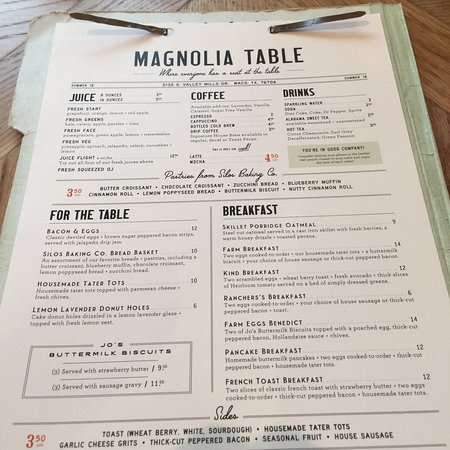 Magnolia Table Photo