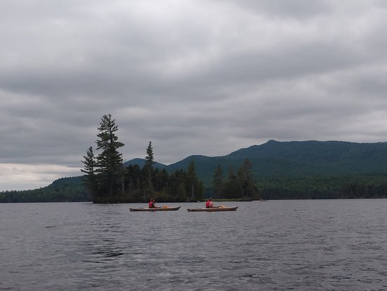 North Hudson, NY: paddling on Elk Lake