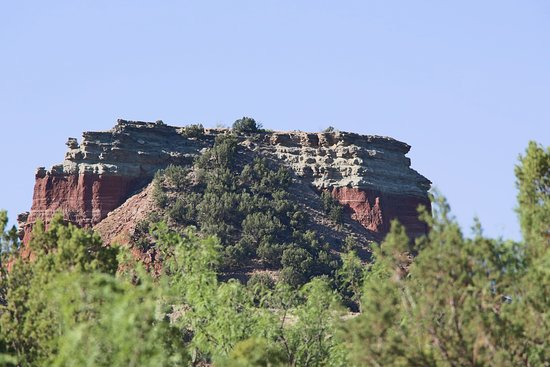 Palo Duro Canyon State Park: Interesting rock formation at the top.
