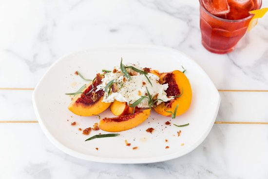 Jane Q: Burrata and Peaches