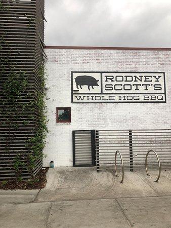 Rodney Scott's BBQ: Restaurant Wall