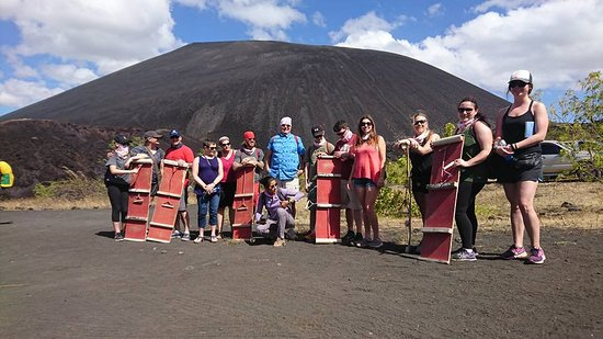 Trek Nicaragua Volcano Expeditions: Our group getting ready to hike up!