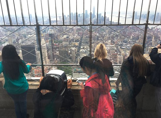 Empire State Building: A view onto the 86th floor observation deck.
