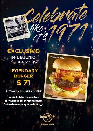 Hard Rock Cafe: Es nuestro cumpleaños y asi lo festejamos! 14 de Junio