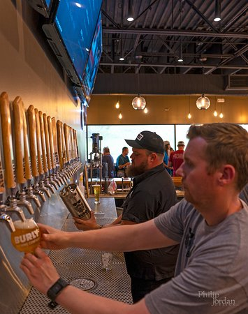 Castle Rock, CO: Our tap wall.  24 in-house constantly rotating taps!
