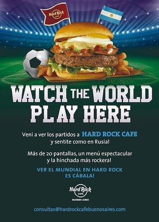 Hard Rock Cafe: Reserva tu mesa, para ver todos los partidos.