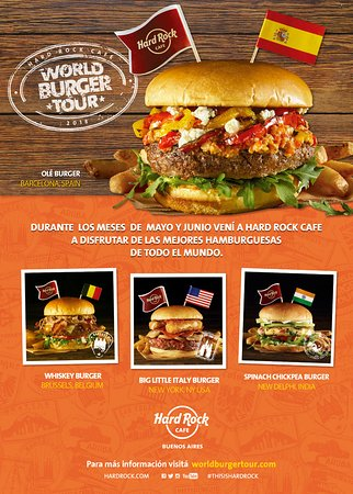 Hard Rock Cafe: Faltan pocos dias para que finalice el World Burger Tour!