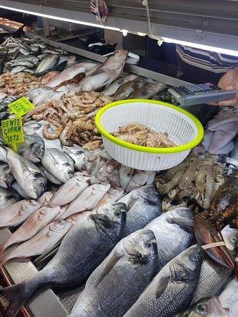 Fethiye Fish And wegetable market ภาพถ่าย