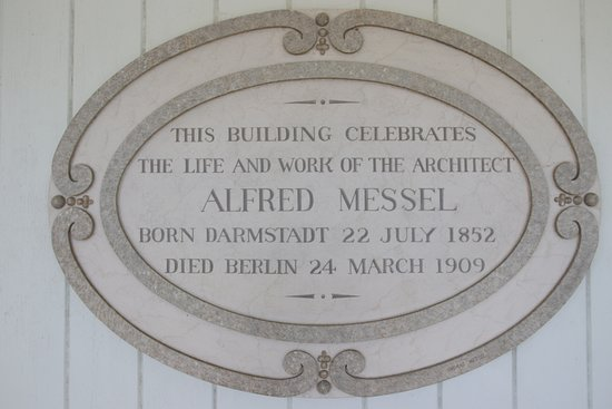 Nymans Gardens and House: Alfred Messel Plaque