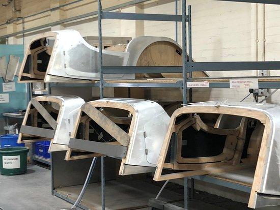 Morgan Motor Company: Aluminium panels are mounted on the wooden sub-frame