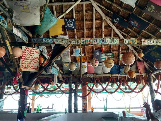 Mezcalitos Restaurant & Beach Bar Cozumel: view from my seat