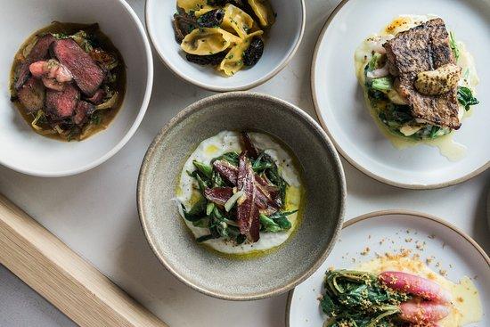 Lawrence Restaurant: Asparagus, duck ham and sheep's yoghurt