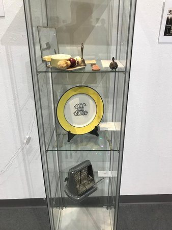 One of the display cases there