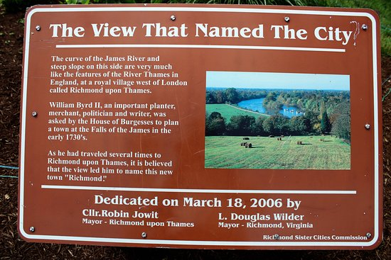 Libby Hill Park: Plaque Explaining History of Richmond's Name