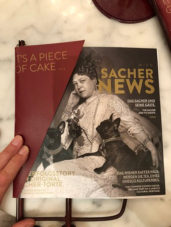 Cafe Sacher Wien: Sacher Menu