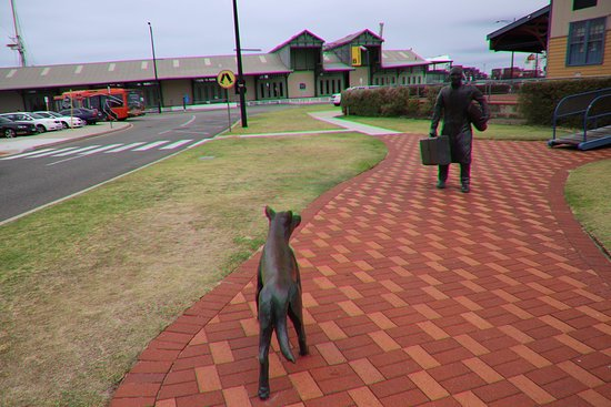 Fremantle, Australië: The Statue of Man & Dog