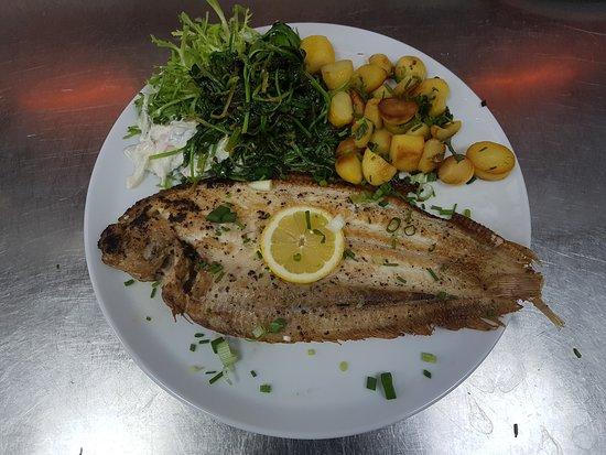 Brasserie De Biesbosch: Zeetong met aardappeltjes en groene salade