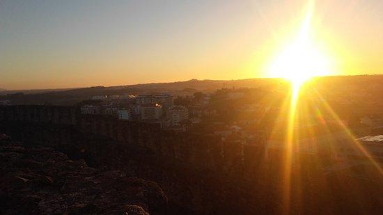 Castelo de Leiria : pôr do sol