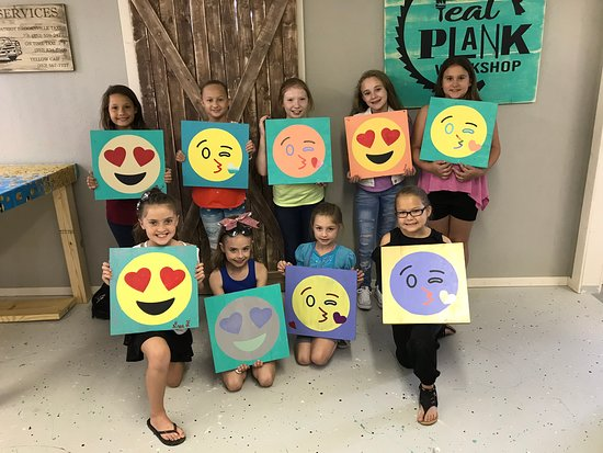 Teal Plank Workshop: Best birthday party ever!