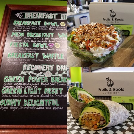 Fruits & Roots Juice Bar : All Day Breakfast Items!