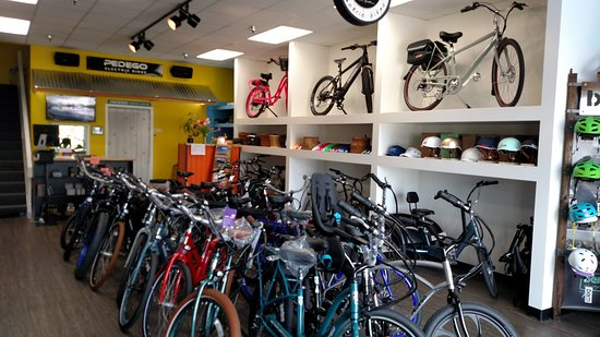 Pedego Irvine: Quite the assortment of bikes. Come check them out!