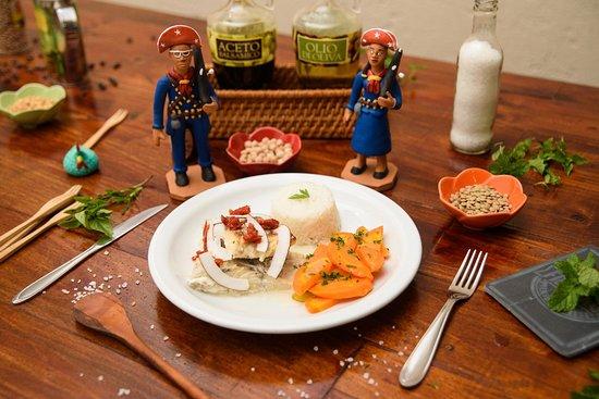 Terra Brasilis Restaurante: Bacalhau com lascas de coco - Terra Brasilis