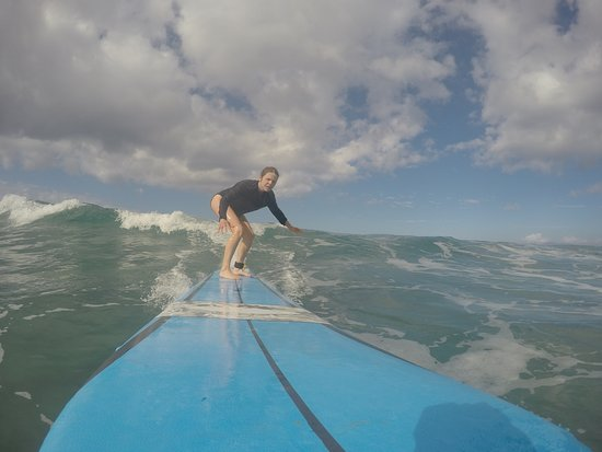 Maui Surf Lessons: My mom (56 years old)