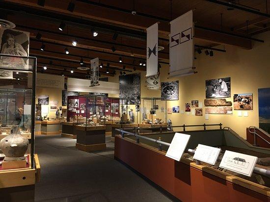 The Anasazi Heritage Center: Visitor center displays