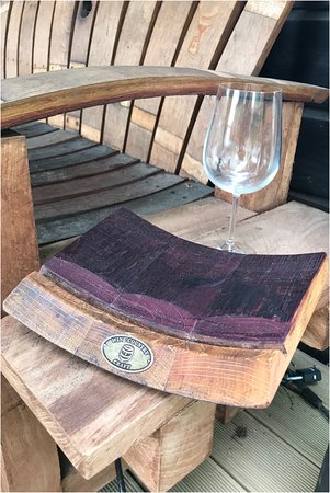 Malbec Small Wine Barrel Platter Made From Wine Barrels Picture