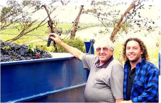 Zerella Wines: Jim with his late father Vic