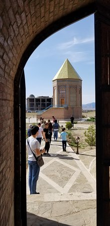 Nakhchivan, Aserbaidschan: вид со двора