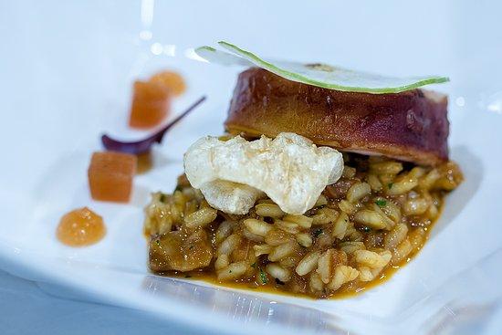 El Cenador de los Canonigos: Arroz con Manos y Oreja de Gochín y Manzana
