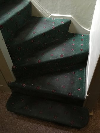Millstone Country Inn: Filthy stair carpet leading to rooms