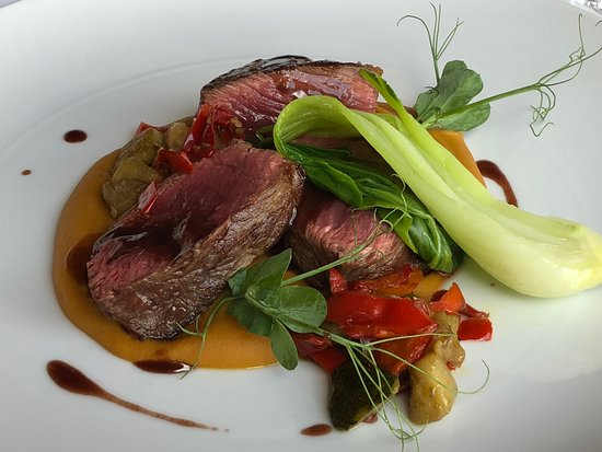 Barao Fladgate : Steak with pumpkin puree