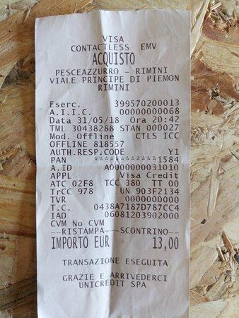 PesceAzzurro Rimini: si può pagare con carta di credito