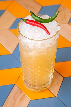 Piña Picante: Tequila, Pineapple, Agave, Egg White, Tabasco, Lime