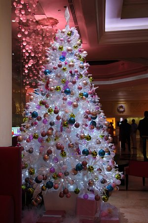 Cinnamon Grand Colombo : Who loves white Xmas trees #natnzin