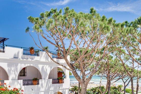Agora' Park Hotel: Esterno - Vista spiaggia
