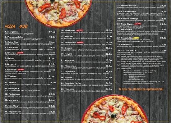 Papa-Pizza Pizzeria: Ulotka