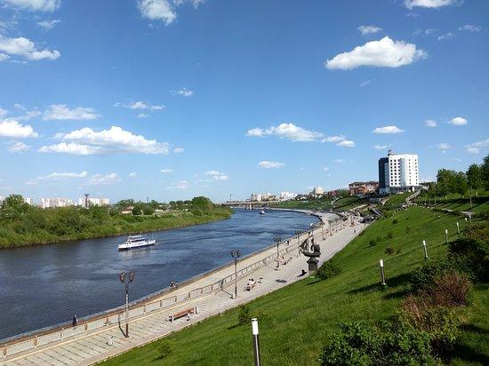 Embankment of Tura River Photo