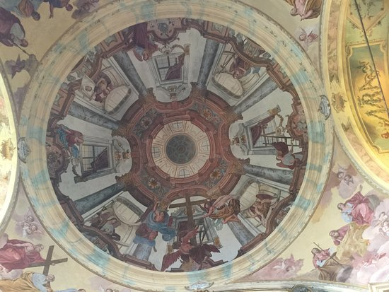 Santuario della Madonna del Sasso: Particolare degli affreschi