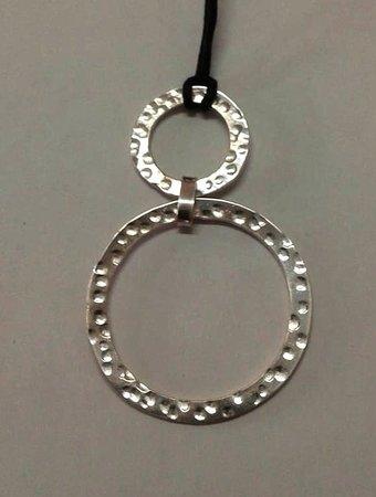 Sanur Jewellery Studio: hammered textured hoop pendant - half day class