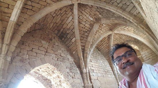 Theatre at Caesarea National Park: gothic arches