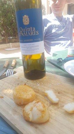 Saint Maurice, France : saint jacques poilées au beurre salé