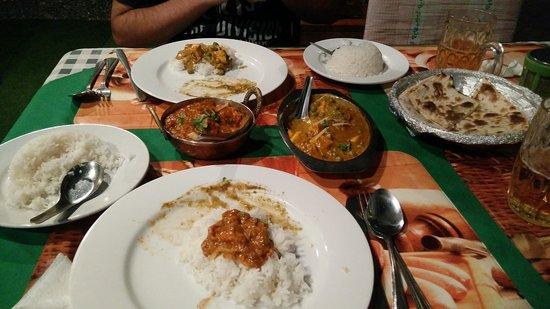 Akbar Indian and Thai Restaurant: comida