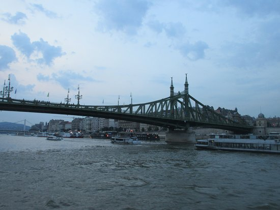 Liberty Bridge (Szabadsag hid): Liberty Bridge in at dusk