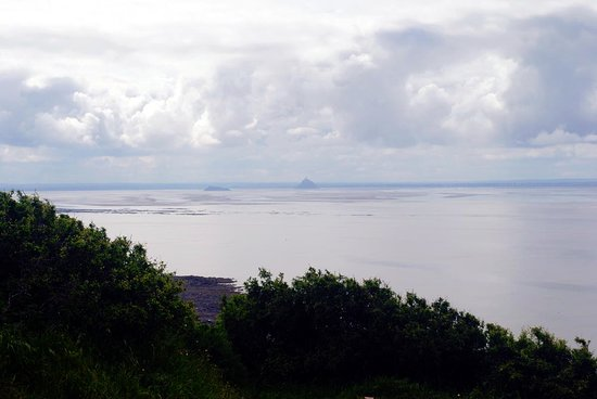 view from La Cabane Vauban de Carolles of Mont St. Michel