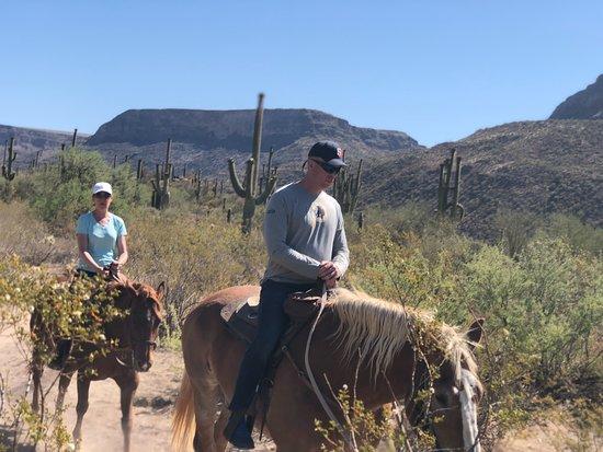 Western Destinations Canyon Creek Ranch - Tours: Riding Gizmo and Clyde through Black Canyon Desert, AZ