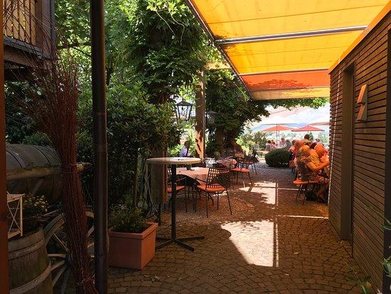 Gutsgaststatte Rappenhof: Terrasse (überdacht)