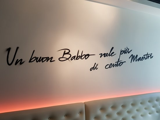 Italian Quotes On The Walls Picture Of Babbo Restaurant London